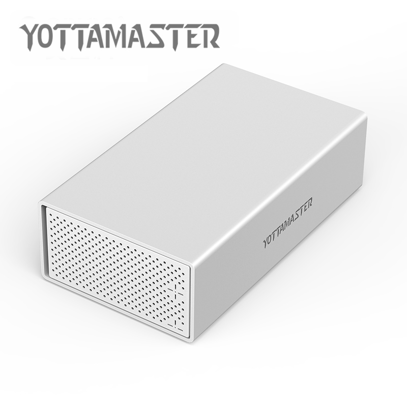 Yottamaster raid hdd ограждение Dual-bay 3,5 дюймов type-C USB3.1 10 Гбит/с Sata3.0 жесткий диск Корпус коробка поддержка 20 ТБ UASP