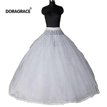 Doragrace 8 Layers Hoopless Ball Gown Bridal Petticoats for Wedding Dress Womens Tulle Gowns Dresses