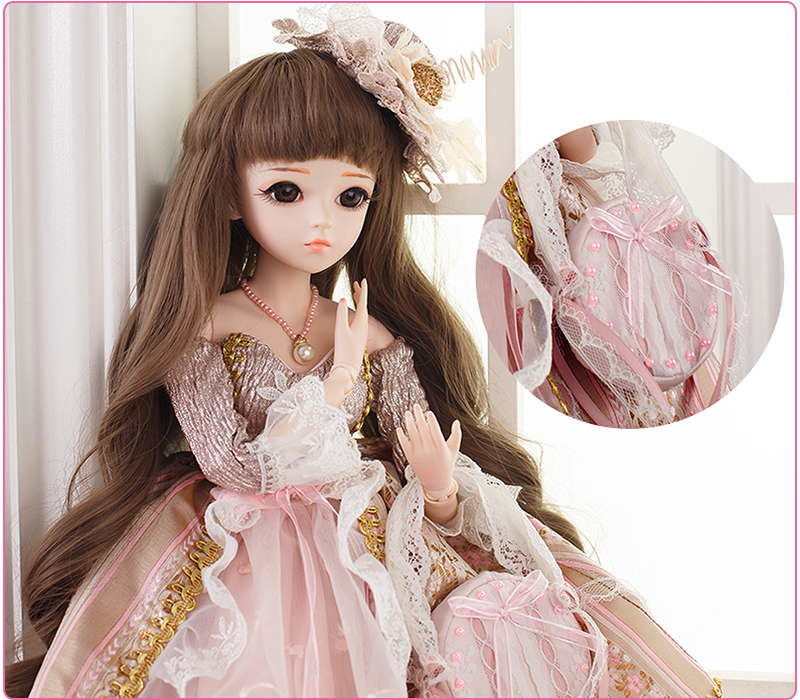 05. Product Description  60cm Large BJD SD Doll Toys 18-Jointed Body  Cosplay Fashion Dolls with Clothes Outfit Shoes Wigs Hair Makeup Gift  Collection 880611c76387