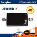 Sanqino Nueva 4G Repetidor 2600 LTE 4G Antena Amplificador 65dB Tamaño Mini 4G Teléfono Celular Amplificador de Señal Booster celular Kit Completo F20