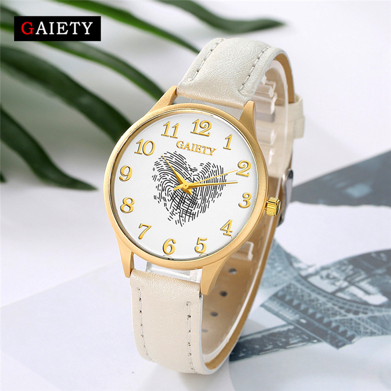 women watchescsaual unique Women Fashion Leather B Analog Quartz Round Wrist Watch Watches relogio Reloj clock P*21