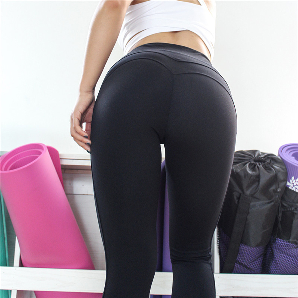 Sexy Shaping Hip Yoga Pants Women Fitness Tights Workout Gym Running Bottom Slim Low Waist Sports Leggings Training Clothing in Yoga Pants from Sports Entertainment