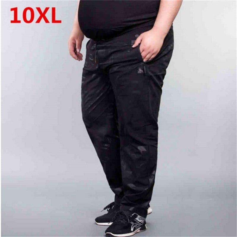 Grande taille 10XL 8XL 6XL automne nouveau survêtement Camouflage Gyms pantalon hommes Fitness musculation Gyms pantalons coureurs vêtements pantalons de survêtement