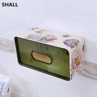 SHALL European Melamine Non trace Stick Wall Hanging Waterproof Home Tissue Case Box Sanitary Accessories Napkin Paper Holder