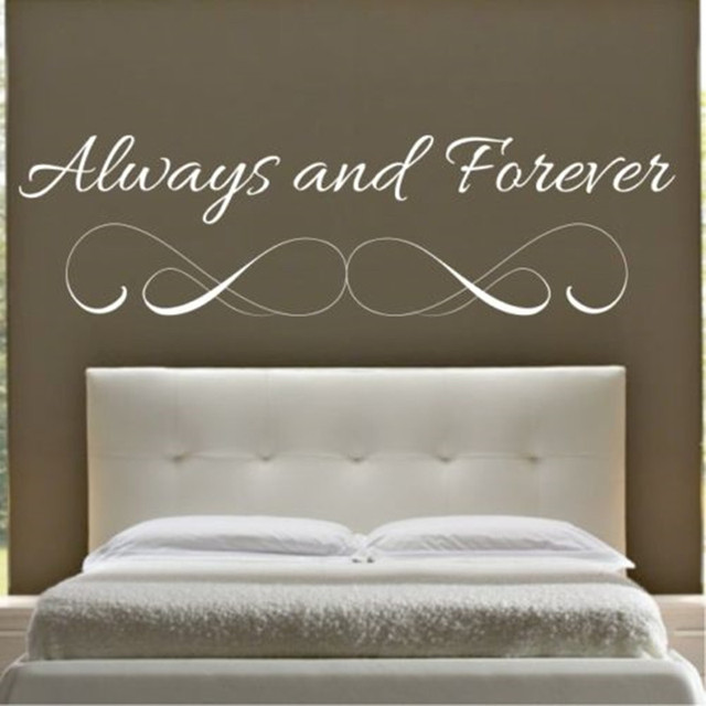 W140 ALWAYS AND FOREVER Wall Quote Bedroom Sticker Art Decal Vinyl Stickers  Lounge Home Decor