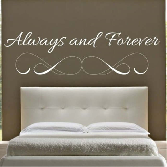 US $6.99 |W140 ALWAYS AND FOREVER wall quote bedroom sticker art decal  vinyl stickers lounge home decor-in Wall Stickers from Home & Garden on ...