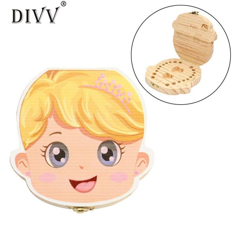 아이 치아 상자 주최자 3-6Years 아기 저장 우유 치아 나무 저장 상자 창조적 인 큰 선물 dig413