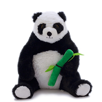 50 cm Stuffed Animal Toy Simulation Panda Plush Toy Bamboo Stuffed Animal Bed Educational Toys For Children Home Decoration