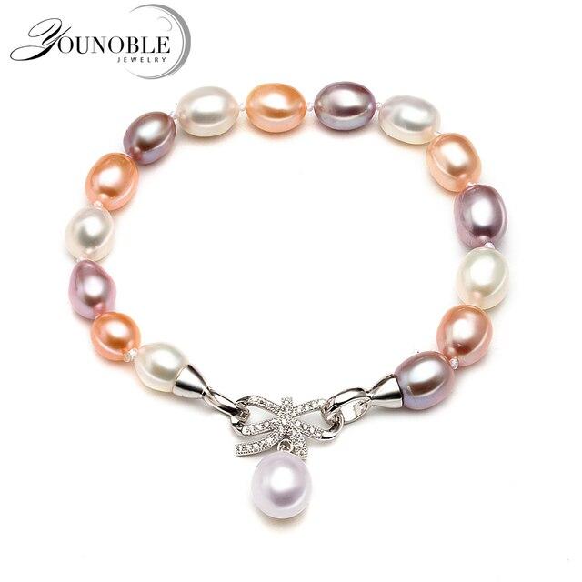 edf93c7f6a22 Pulsera de mujer de moda perla fiesta regalo de cumpleaños