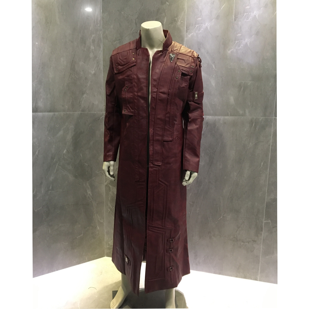 Star Lord Cosplay Costumes Peter Quill Star Lord Long Leather Jacket Guardians Of the Galaxy 2 Halloween Cosplay Custom Made|Movie & TV costumes| |  - title=