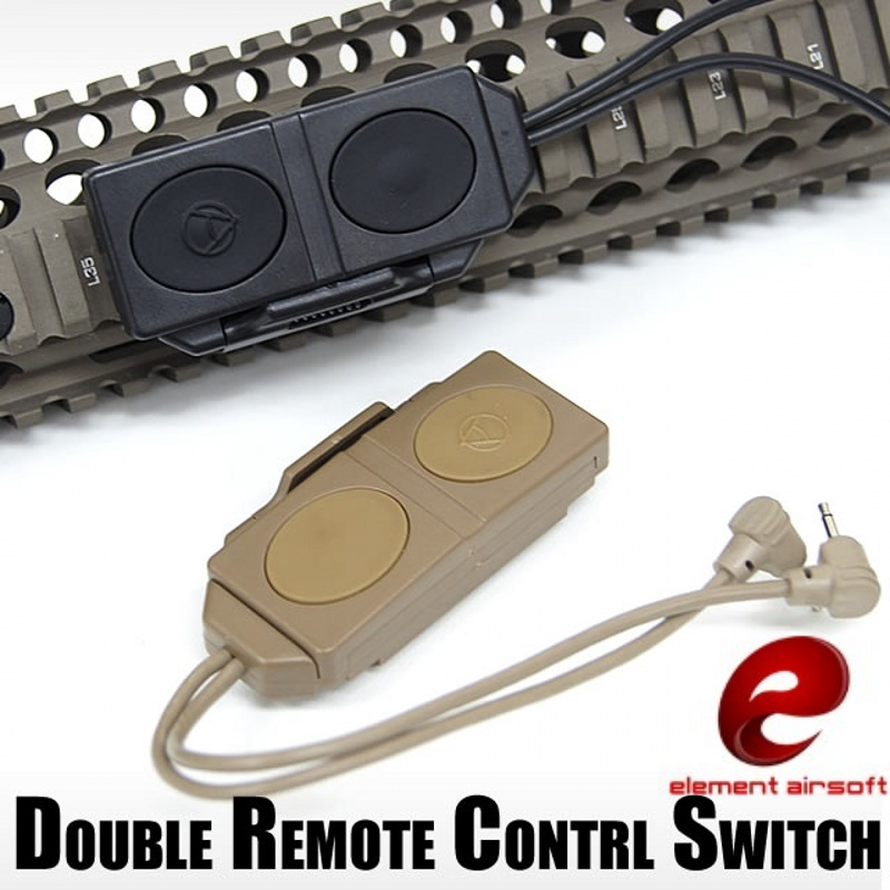 Element EX177 Airsoft Tactical Pressure Double Switch Remote Control For PEQ-16A & M3X Flashlight