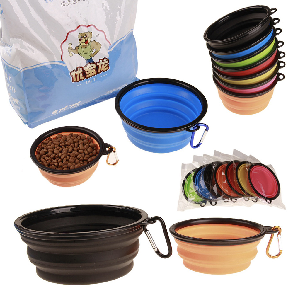 Collapsible Silicone Pets Bowl Food Water Feeding BPA Free Foldable Travel Cup For Dogs Cat Drop Shipping Outfit Portable Dish