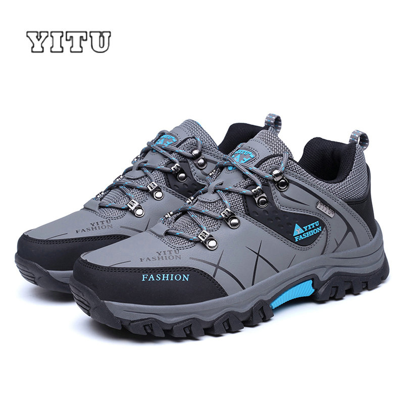 Image 5 - YITU Men Profession Hiking Shoes Waterproof Anti Skid Outdoor Trekking Shoes High Quality Climbing Sports Shoes Plus Size 39~47-in Hiking Shoes from Sports & Entertainment