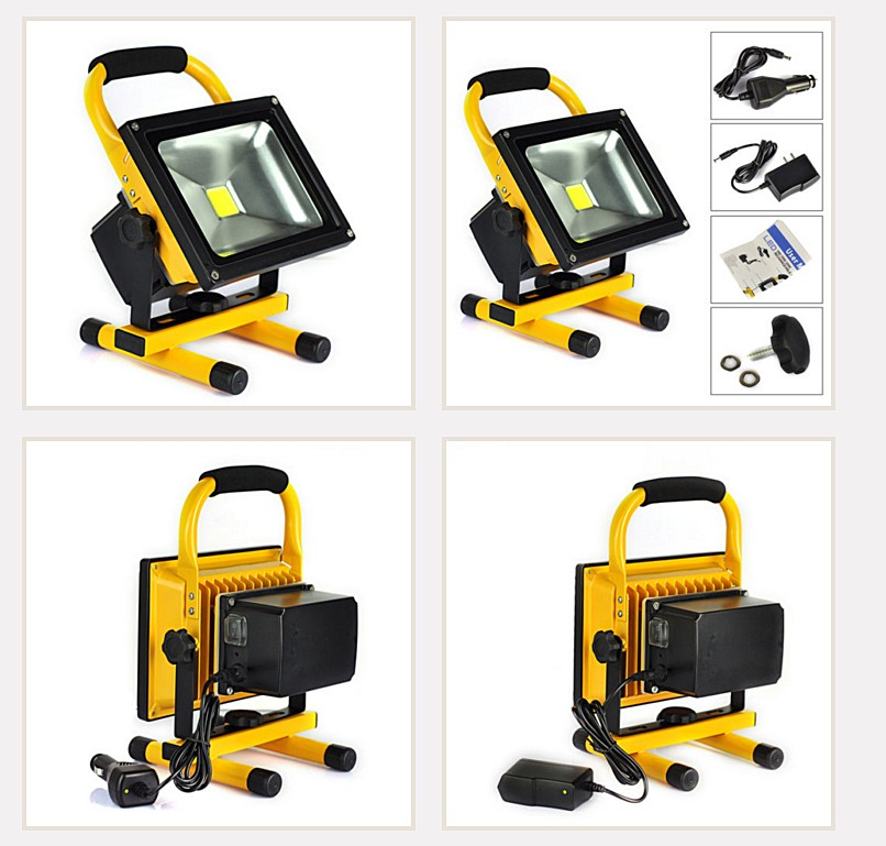 50W Rechargeable LED Floodlight Camping Fishing light Led Outdoor Light Protable LED Rechargeable Flood Lights Charger
