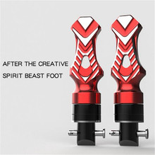 SPIRIT BEAST Moto Creative Personality Aluminum Alloy Back Foot Pedal Motorcycle Rear Foot Tripod Universal Modified Off-Road eastor er my universal aluminum alloy abs motorcycle back pedal black yellow pair