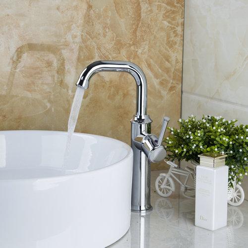 Tall Basin Water Tap Kitchen Torneira Cozinha Good Quality Swivel Chrome Deck Mount 92322 Single Handle