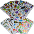 5pcs, BOHS Multi Patterns Cartoon Animals Stickers,Boys or Girls Optional  14cm*6.8cm