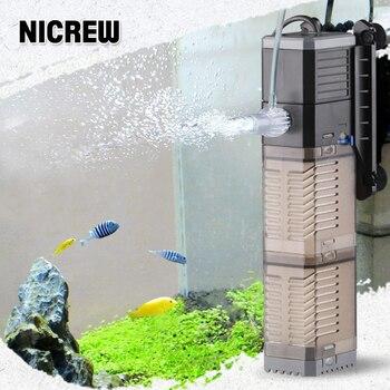 NICREW SUNSUN 4 In 1 submersible filter water pump air wave maker circulation Sponge Filter For Aquarium Fish Tank