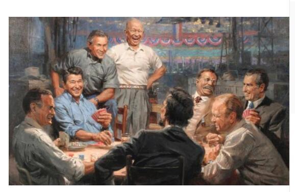Оригинальный топ Арт # USA американский президент печать масляной живописи работа огромный размер хорошее качество масляной живописи беспла