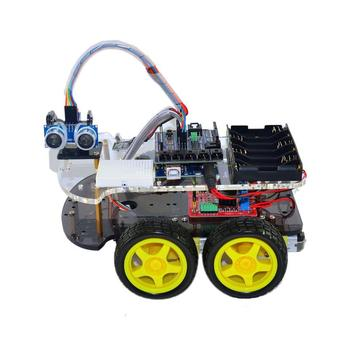 4WD Bluetooth Multi-functional DIY Smart Car kit For DIY Robot Car Starter