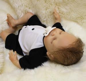 Image 5 - OtardDolls Bebe Reborn Puppen 18 zoll Reborn Baby Puppe Weichen Vinyl Silicon Newborn Puppe bonecas Panda Kleidung Für Kinder Geschenke
