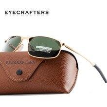 Luxury HD Polarized Sunglasses for Mens Metal Frame Driving Pilot