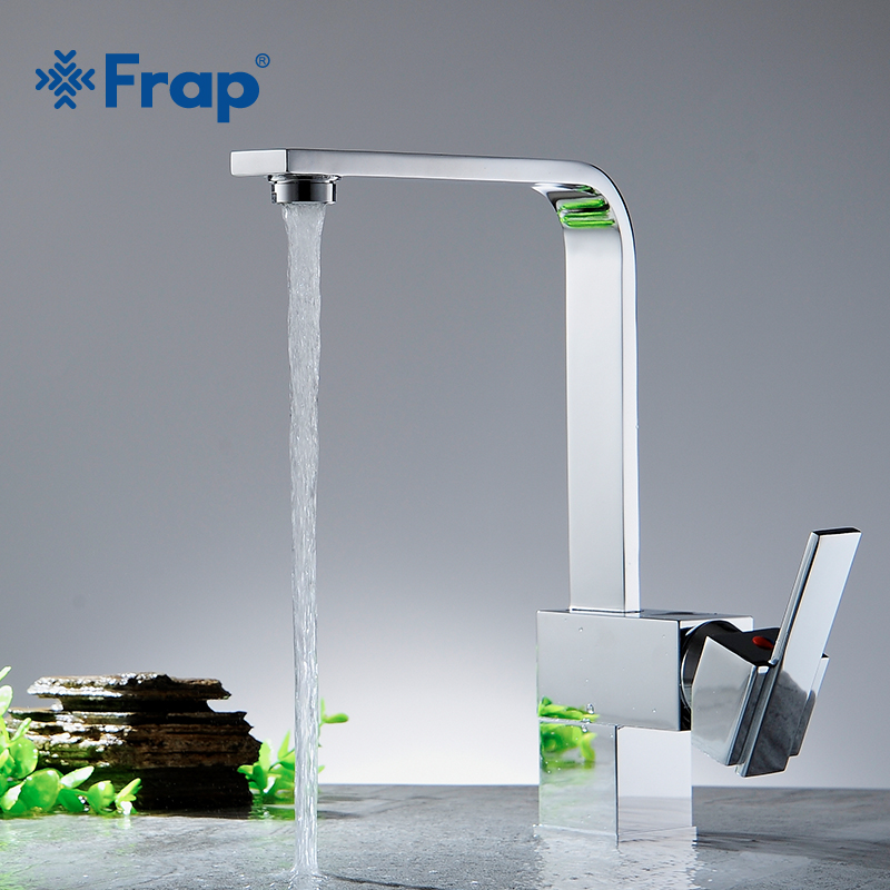 Frap Hot Sale 1 set Brass Kitchen Mixer Cold and Hot Kitchen Tap Single Hole Water