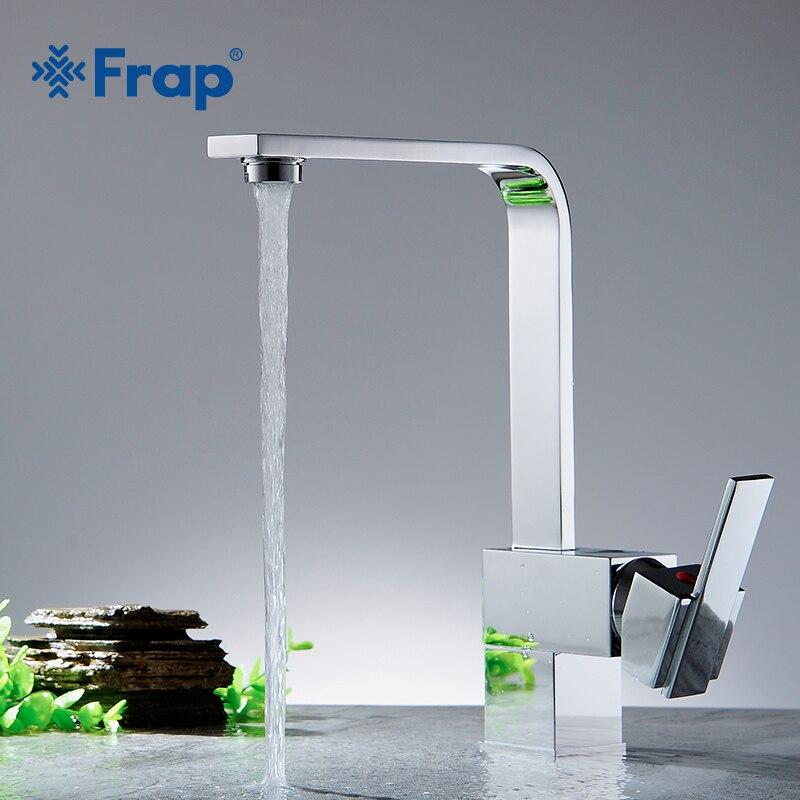 Frap offre spéciale 1 set mélangeur de cuisine en laiton robinet de cuisine froid et chaud robinet d'eau monotrou robinet de cuisine Torneira Cozinha Y40029