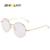 Redonda de metal armações de óculos mulheres homens óculos de ouro rodada armações de óculos de prescrição do vintage lente de Vidro Liso 2757