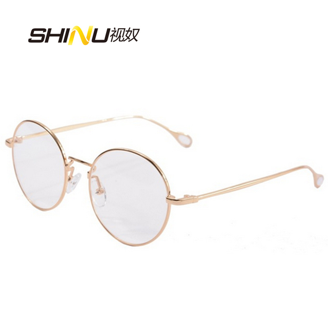 d1e3187ae12e round metal eyeglass frames women glasses men round gold glasses frames  vintage prescription lense Plain Glass
