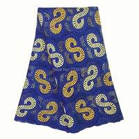 Ourwin последние Королевский синий гипюр кружевной ткани тяжелые камни французского кружева в африканском стиле высокое качество кружевной т