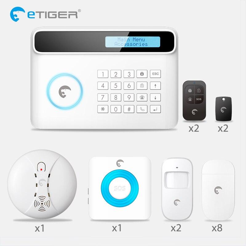 Etiger S4 Android ISO приложение Беспроводной PSTN GSM сигнализация дома Системы умный дом охранной Системы комплект ПИР Инфракрасный