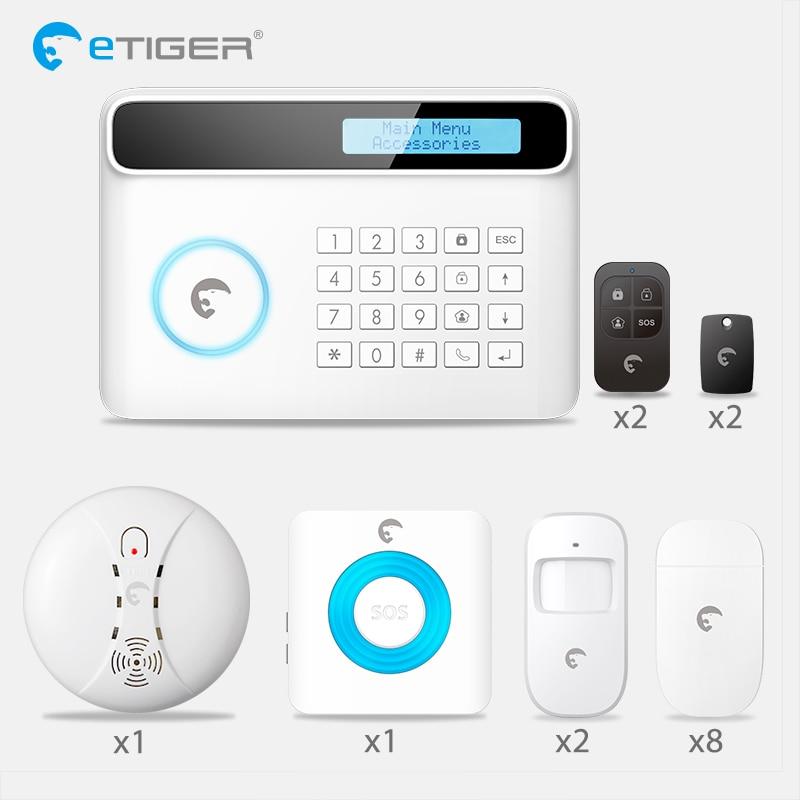 Etiger S4 Android ISO App Sans Fil PSTN GSM Système D'alarme Maison Intelligente Accueil Cambrioleur de Sécurité Système D'alarme Kit PIR infrarouge