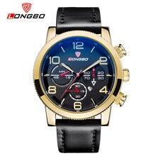 LONGBO Lujo Hombres de Cuero Genuino Reloj de Cuarzo de Los Deportes Relojes Para Hombres Hombres Ocio Simple Reloj Reloj Relogio masculino 80196