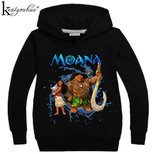 New Kids Sweatshirt MOANA Costume For Girls New Moana Princess T-shirt Boys Sweatshirts Girls Hoodies Baby Clothes Kids T-shirt