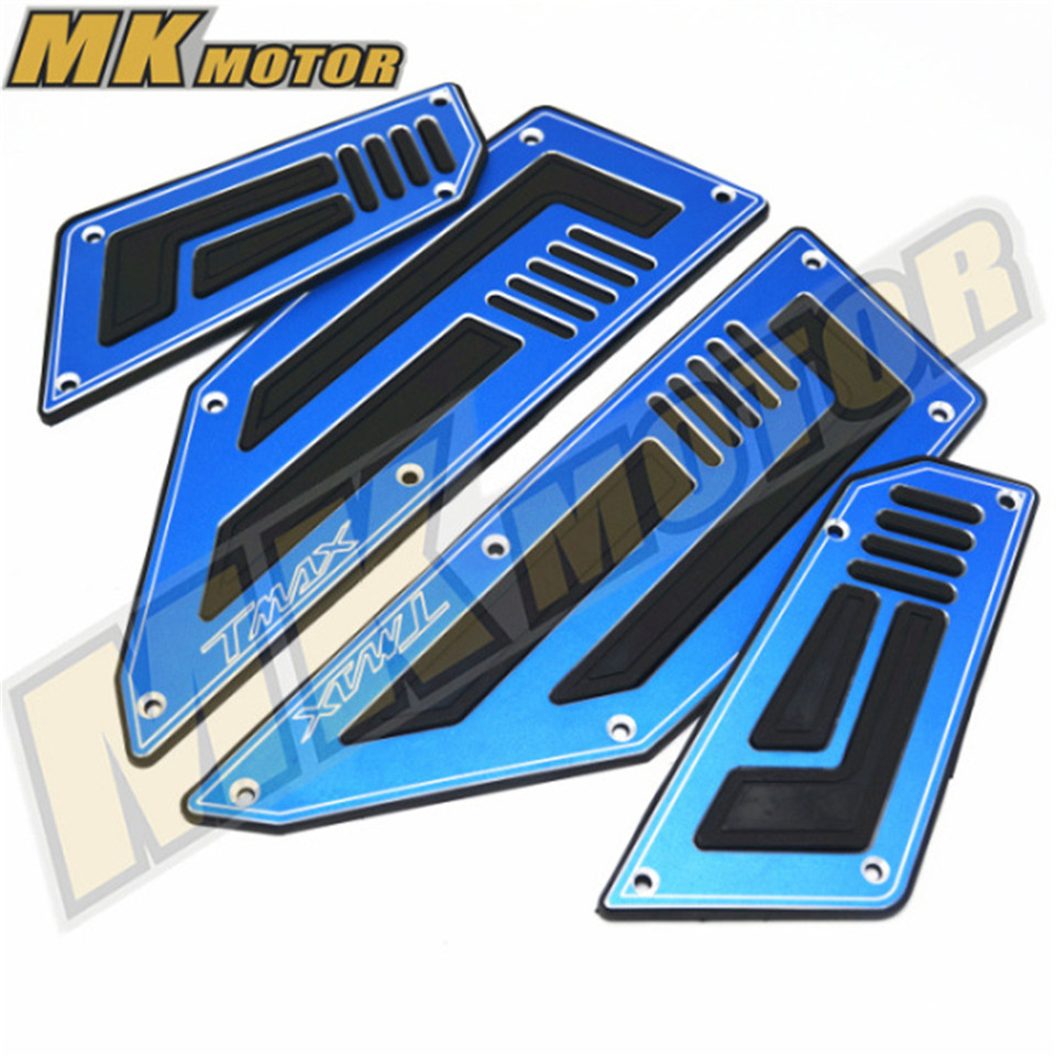 BYSPRINT Front and Rear Motorcycle Footboard Steps Foot Pegs Plate for Yamaha T-Max 530 TMax 530 TMax530 2012 2013 2014 2015 billet rear hub carriers for losi 5ive t