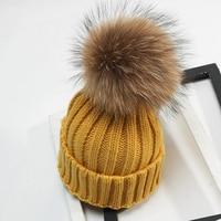 Baby Girl Boy Cap NEW Fashion Autumn Winter Mother Kids Warm Winter Knit Crochet Beanie Fur