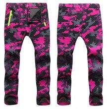 2019 zimowe polarowe spodnie do wędrówek pieszych mężczyźni i kobiety Outdoodr ciepłe Softshell wodoodporne spodnie termiczne Camping narciarstwo Trekking spodnie do wspinaczki