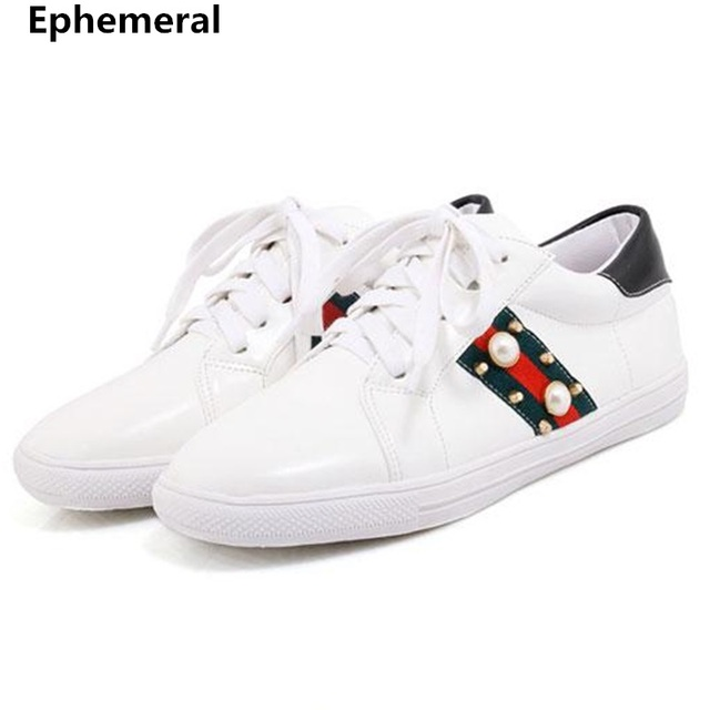 Female s Lace-up Flats Patchwork Soft Bottom Sole Shoes With Crystal For Running  Plus Size 6933a54f02d3