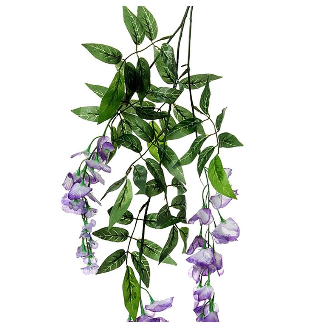 HOT GCZW Artificial Silk Fake Flower Ivy Vine Hanging Garland ...