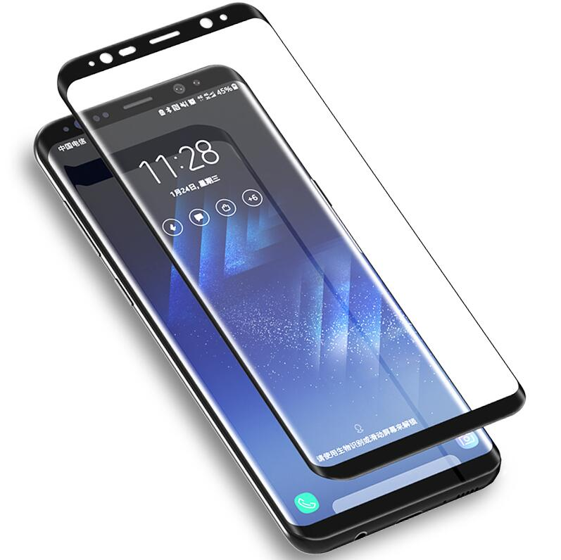 Transparent, Samsung S8 Plus 6D Curved Full Cover Tempered Glass for Samsung Galaxy S9 S8 Plus Screen Protector Film for Samsung Note 9 Note 8