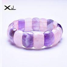 XJ Natural crystal Stone Bracelet Jewelry Handmade Beads Mans Bracelets Creative Gifts