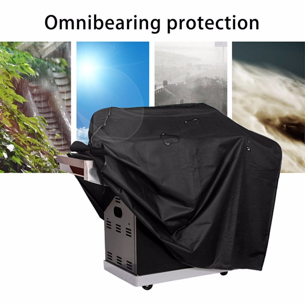 Waterproof BBQ Cover Outdoor Storage Rainproof For Gas Barbecue Grill Large Anti-dust 190T Polyester Protective Cover