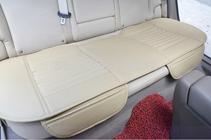 Image 2 - 대나무 자동차 좌석 쿠션 숯 가죽 자동차 모 놀리 식 커버 뒷좌석 뒷좌석 사계절에 적합 1pcs 뒷좌석