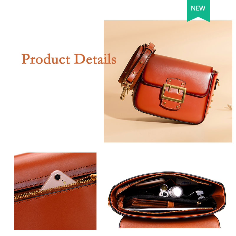 Vintage Real Leather Wide shoulder strap Handbag premium quality fashion genuine leather Shoulder Bags of Famous Brand in Shoulder Bags from Luggage Bags