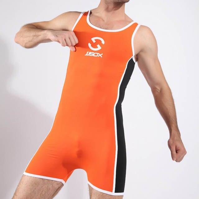 Men Bodysuit Man Slimming One Piece Wrestling Shapewear Gay Seamless Body  Shaper Underwear  fb6bc0e66