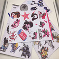 2017 Nova 30 cm * 20 cm overwatches Adesivos Misericórdia Tracer Dva Reaper Mccree Hanzo Etiqueta para notebook Parede DIY OW Etiqueta Crianças Brinquedos