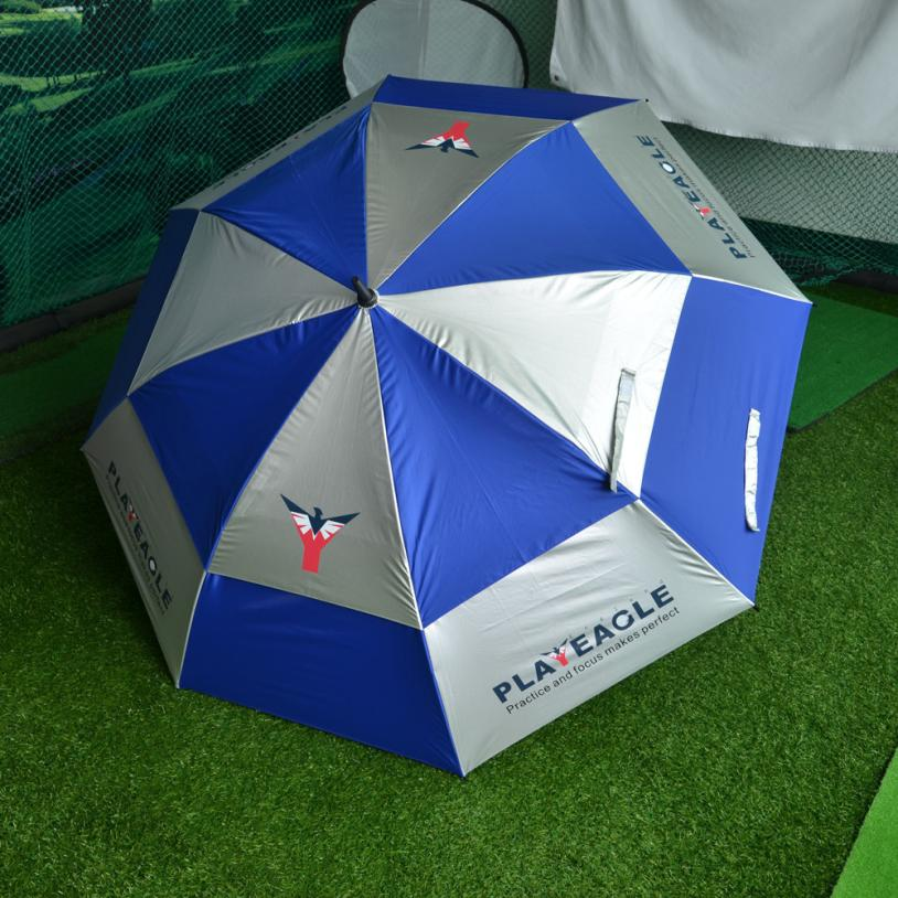 2017 New Double Canopy Golf Umbrella Anti-UV Windproof Vented Canopy Fibreglass Frame S925 new panda windproof anti uv sun rain flower princess parasol folding umbrella bumbershoot
