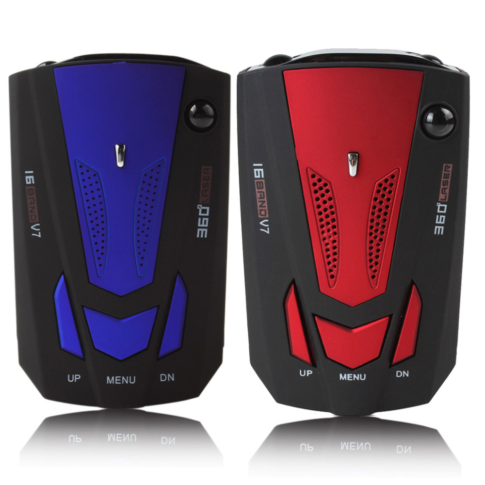 V7 16 Band Auto Car Radar Detector 360 Degree Detection English & Russian Voice Alert X K NK Ku Ka Laser Anti Radar Detector