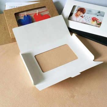 50PCS/lot Vintage Hollow Design Black / White / Brown Kraft Paper Envelope Postcard Boxes Greeting Photo Post Card Package Bag